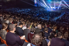 rear view of the audience at the business conference
